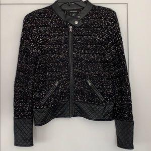 Club Monaco Size XS Tweed Moto Jacket